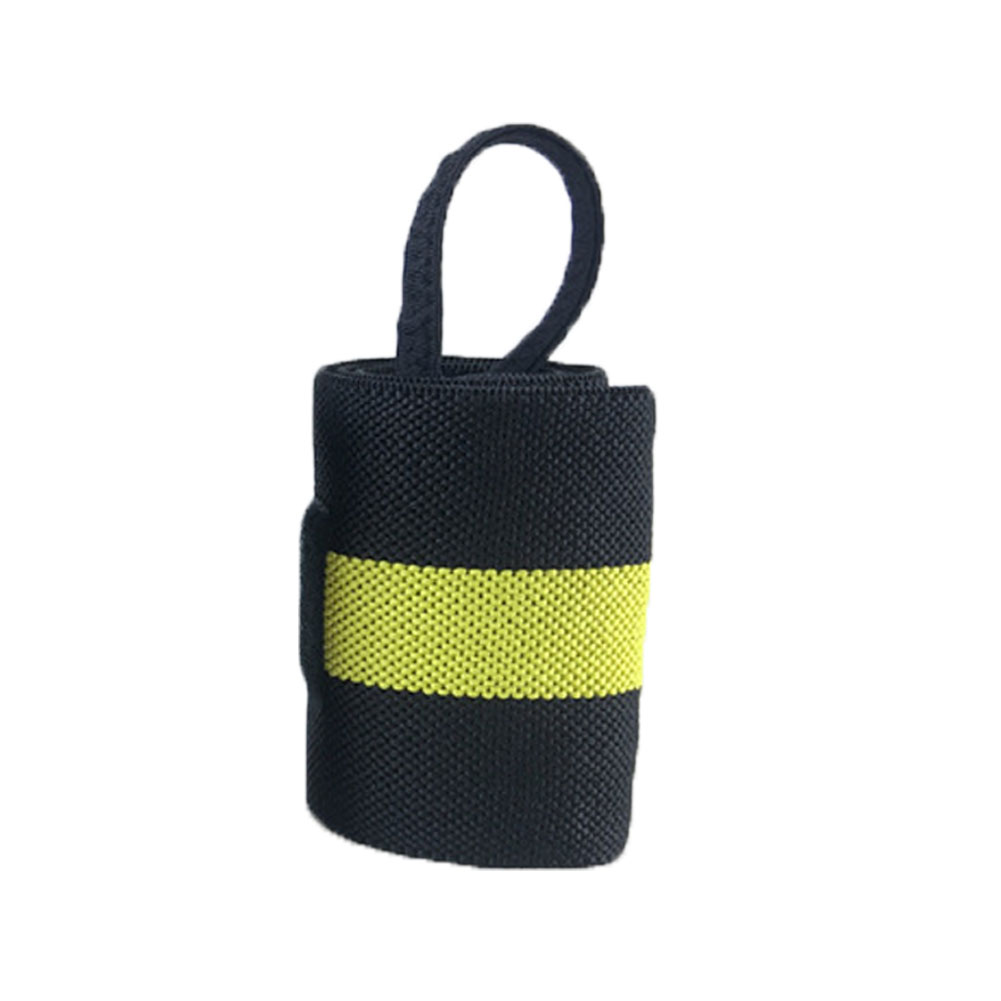 1 шт. вес для подъема кистевой ремень Фитнес Спорт бандаж регулируемая опора для запястья - Цвет: Цвет: желтый