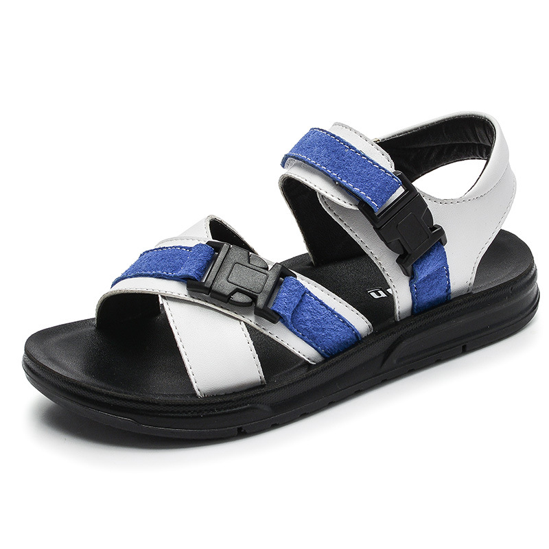 2018 Summer Beach Boy Sandals Kids Genuine Leather Shoes Fashion Sport Sandal Children Sneakers for Boys Leather Casual Shoes