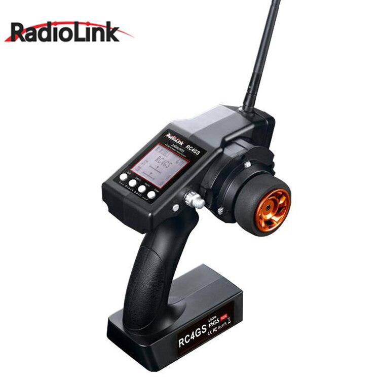 RadioLink Nouveau RC4GS 2.4g 4CH Voiture Contrôleur Émetteur + R4FG Gyro À L'intérieur Récepteur pour RC Voiture Bateau