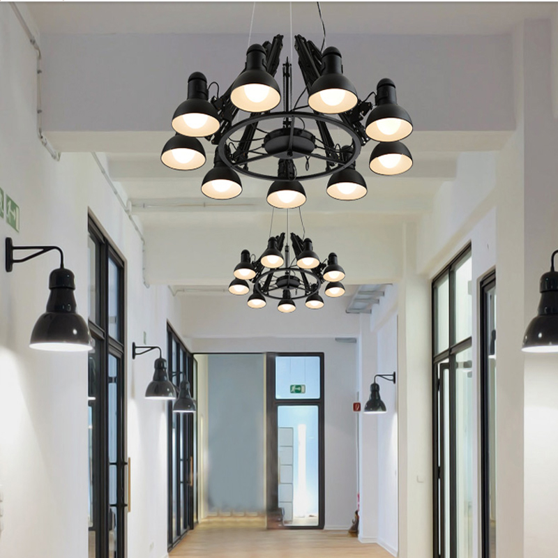 Black spider chandelier novelty lighting large swing arm red iron black spider chandelier novelty lighting large swing arm red iron chandelier luminaria meeting commercial industrial lighting in chandeliers from lights aloadofball Choice Image