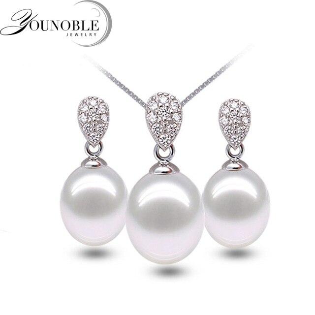 88f8c60aa65f Aliexpress.com  Comprar Real 925 joyería de plata conjunto de ...
