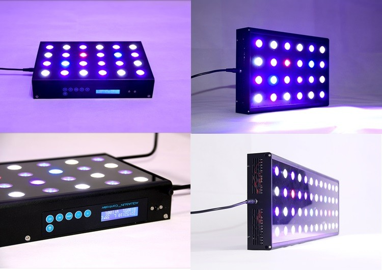 Full Spectrum Marine Coral Tank Led Lighting Wifi Remote Controller Dimmable And Programmable Channels Aquarium Lamp