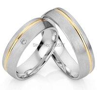 2014 модные классические серебряные украшения цвет позолота инкрустация titanium Обручение обручальные кольца, наборы пара titan trauringe