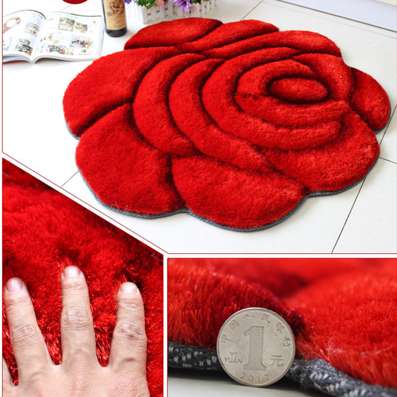 1pcs 3d style rose modern carpet for living room and area - Tappetini per il bagno ...