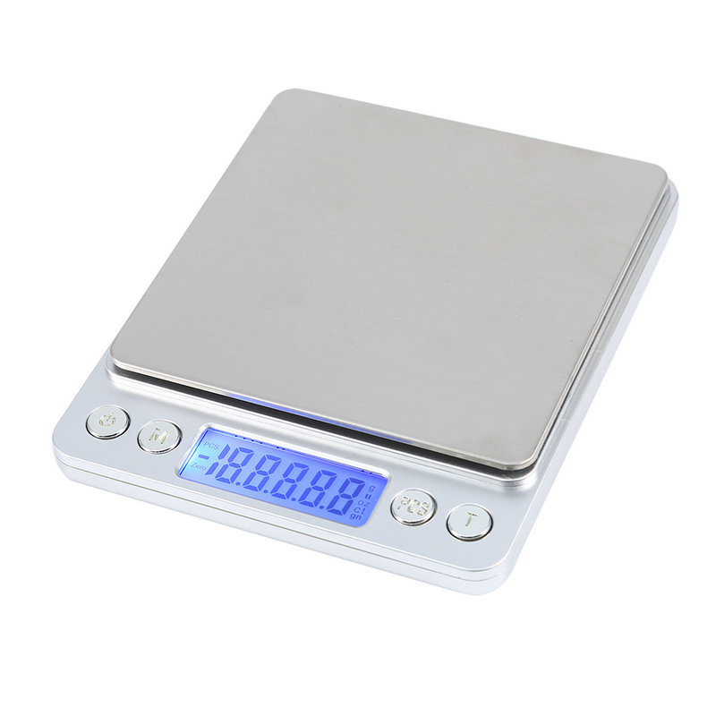 6 6lb 3kg Digital LCD Display Food Scale with Stainless Steel Platform Multifunctional Kitchen Scale