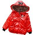 2016 новые зимние дети милый мультфильм Микки Маус С Капюшоном Куртки для мальчиков и девочек вниз хлопка короткая куртка