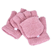 snowshine #1701 Girls Women Ladies Hand Wrist Warmer Winter Fingerless Gloves Mitten free shipping