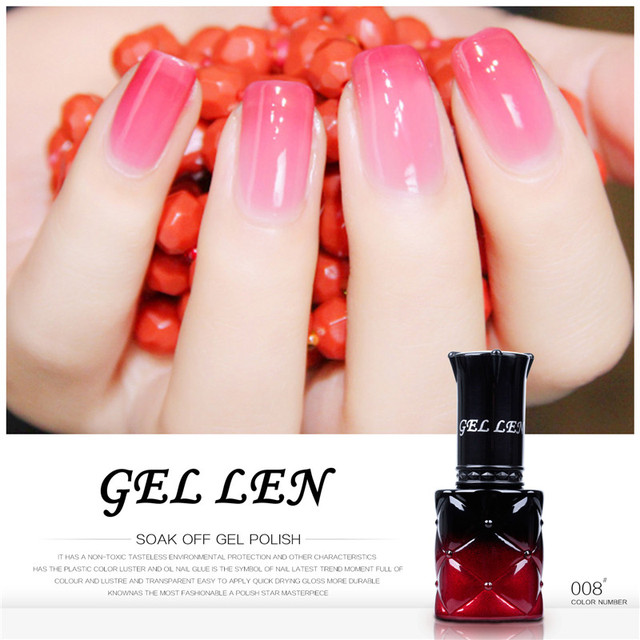 Gel Len 8ml Temperature Changing Nail Polish New Brand Change Color Varnish Led