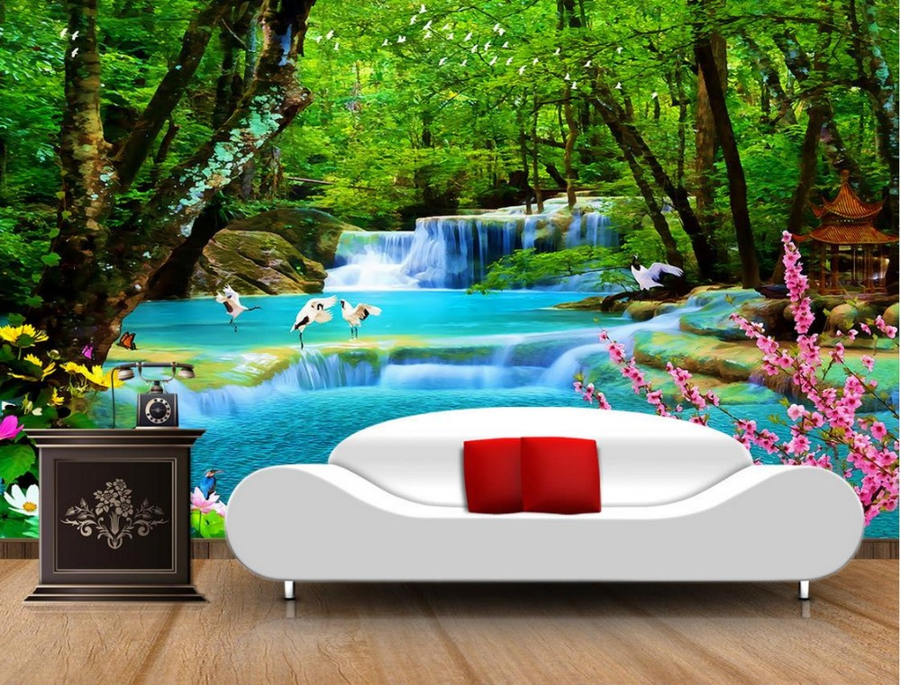 Custom 3d Photo Wall Paper The Forest Landscape Natural Beauty Wallpaper Mural For Living Room In Wallpapers From Home Improvement On Aliexpress