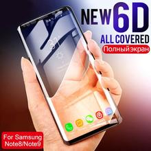 6D Full Curved Film For Samsung S10E S8 S9 Plus Note 9 8 Screen Protector Film For Galaxy S7 S6 Edge S10 Tempered Glass Anti Oil все цены