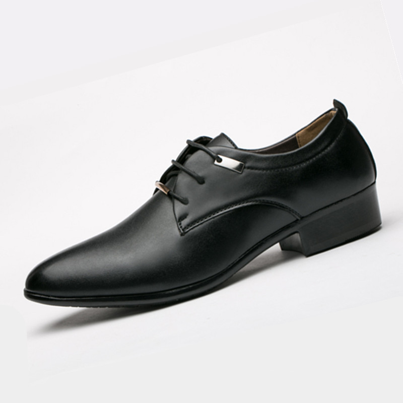 Hombre En Zapatos Mariage Noir 2a Bout Chaussures Pointu Style Robe Oxford Parti Eurpean De Cuir Mâle Hommes marron Italien Élégant 1aZ57q
