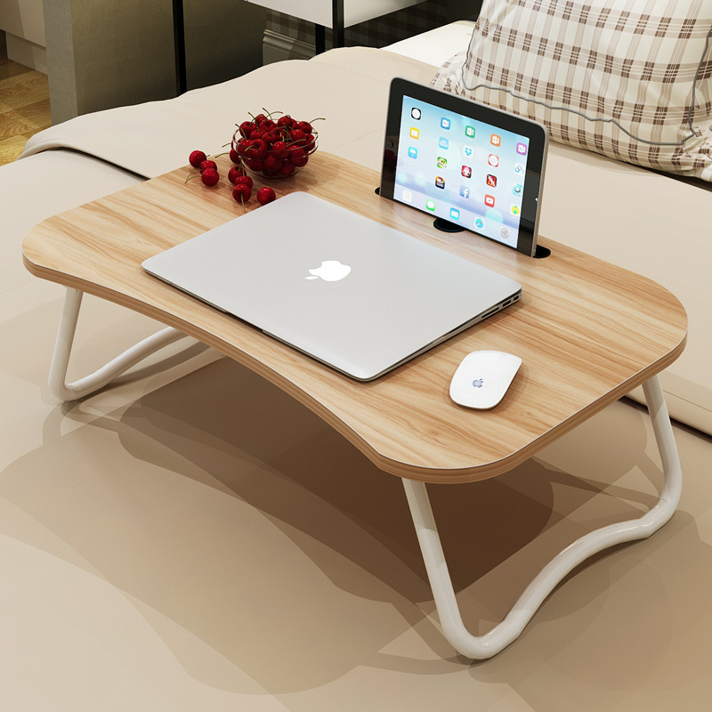 Laptop bed table with simple dormitory lazy desk on bed desk deskable foldable multi-purpose small table 1pc white multifunctional light foldable table dormitory bed notebook small desk picnic table laptop bed tray