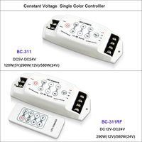 New CV Single Color LED Dimmer Controller 3 channel Output dimmer 8A*3CH RF remote Wireless PWM LED dimmer DC5V 24V