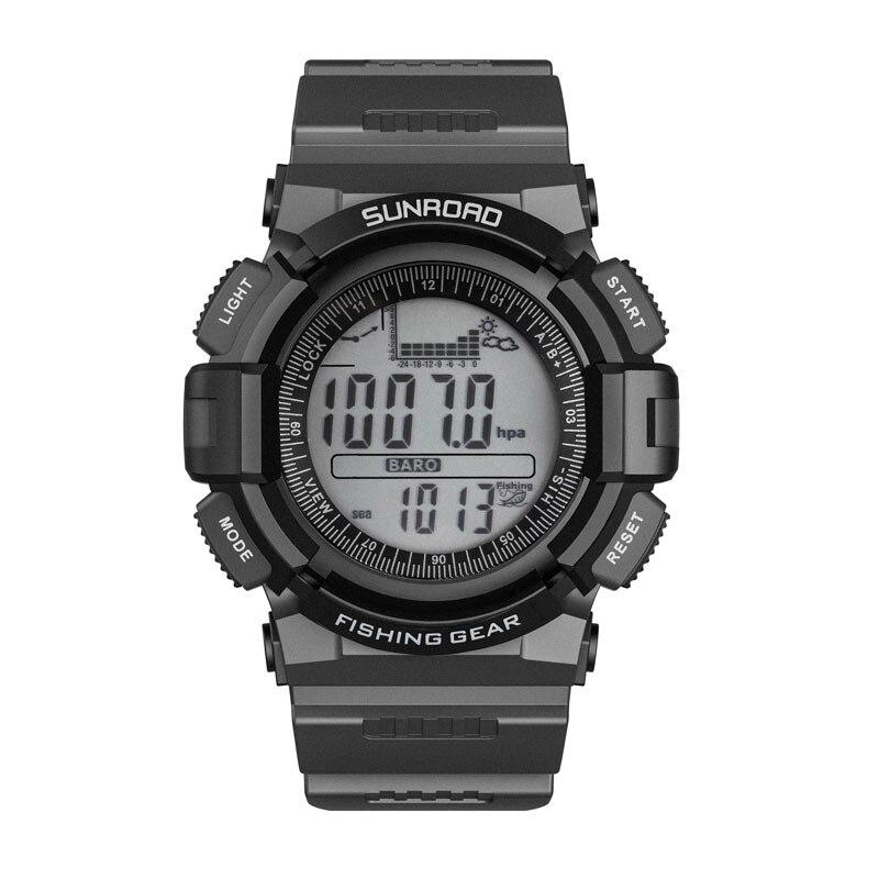 SUNROAD الرجال الرقمية ساعة رياضية الصيد بارومتر مقياس الارتفاع تسلق ميزان الحرارة المشي تشغيل التخييم النساء الساعات-في ساعات رقمية من ساعات اليد على  مجموعة 1
