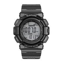 SUNROAD للرجال ساعة رياضية رقمية الصيد بارومتر مقياس الارتفاع تسلق التنزه الجري التخييم النساء الساعات