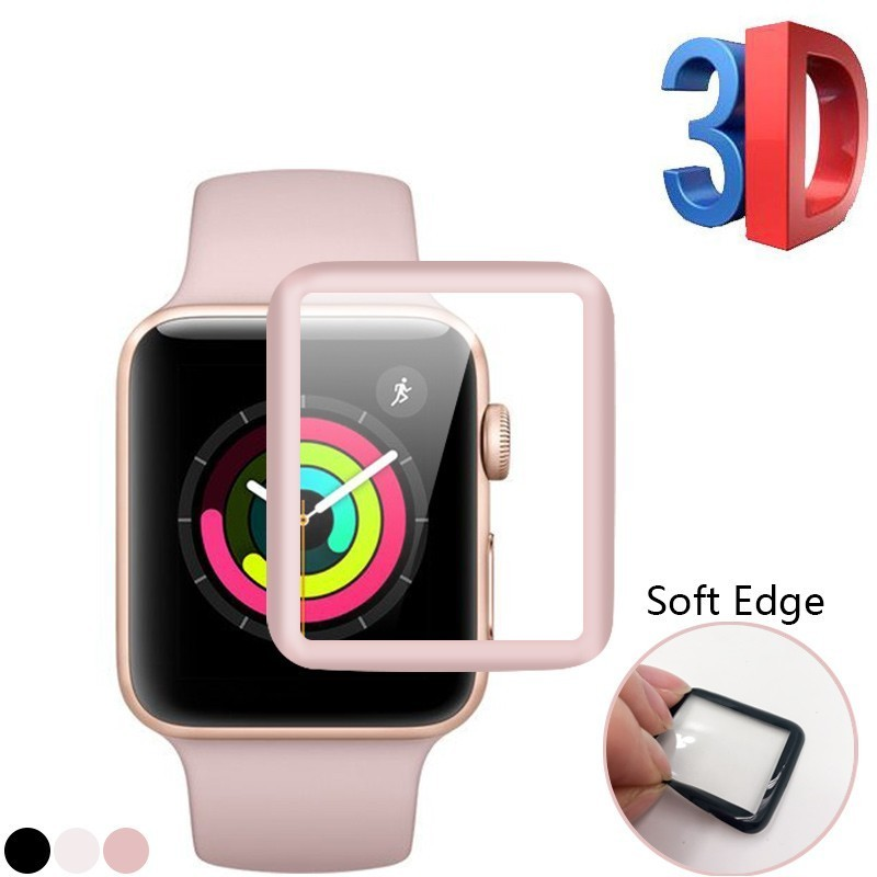 3D Curved Soft Edge Tempered Glass Screen Protective Film for Apple Watch band Series 1 2 3 38mm 42mm Screen Protector Cover