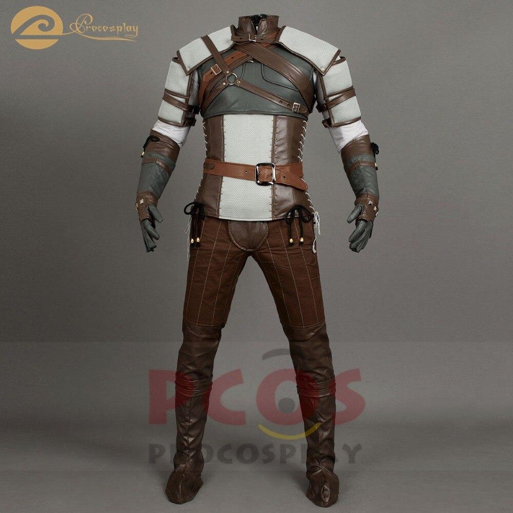 The Witcher 3: Wild Hunt Geralt of Rivia Cosplay Costume - ازياء كرنفال