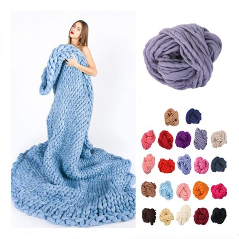 Super Soft Thick Yarn 20 Color Roving Bulky Big Yarns Spinning Hand Knitting Thread Crochet Yarn for Knitted Hat Scarf Yarn