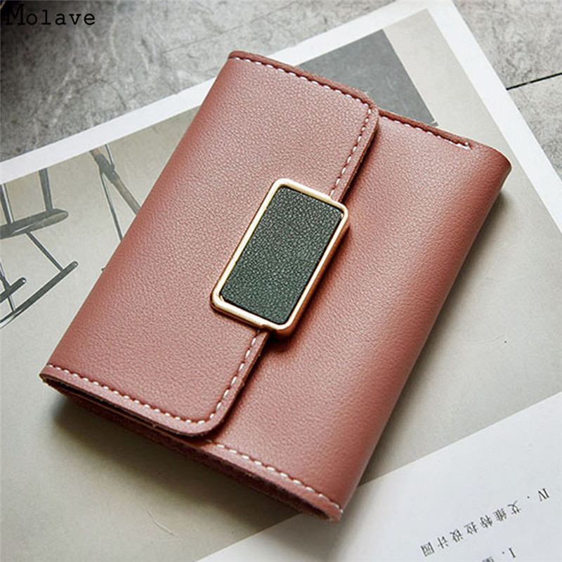 New Arrival PU Leather Women Short Wallet Fashion Girls Change Hasp Mini Purse Money Coin Card Holders wallets Carteras s1520 dudini new luxury soft leather women hasp wallet fashion tri folds clutch for girls coin purse card holders female money bag