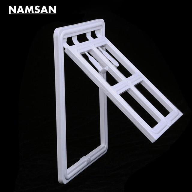 Namsan White Magnetic Dog Door Pet Window Screen Flap Door Doggie