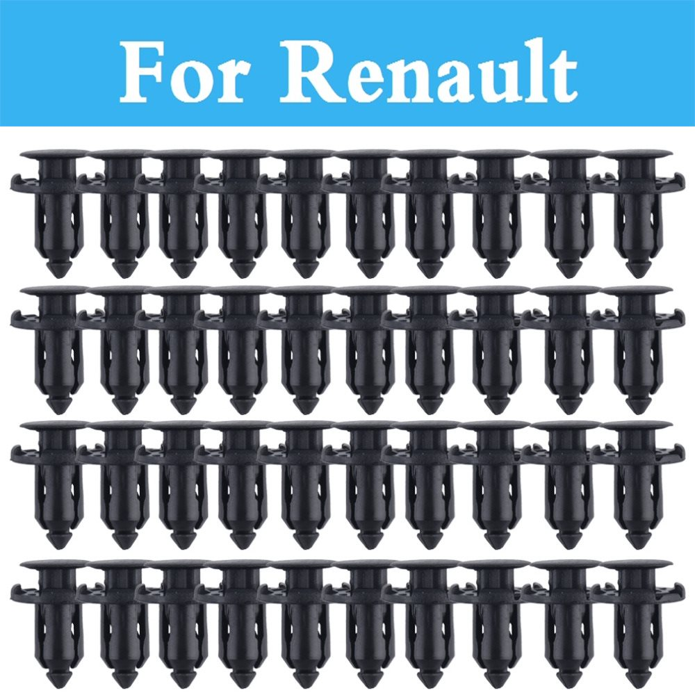 Plastic Rivets Retainer Clips Car Fender Panel Trim Clips For Renault Talisman Twingo Twizy Vel Satis Wind Zoe Sandero Rs Symbol