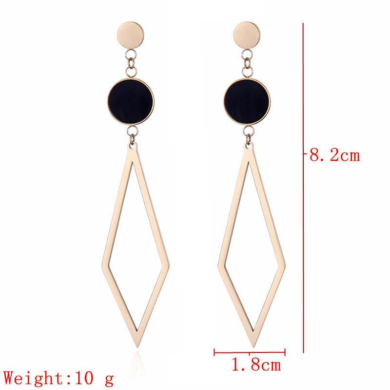 Kuziduocai 2018 New Fashion Fine Le Jewelry Anium Stainless Steel Geometry Exaggerated Rock Stud Earrings For Women E 1230 In From