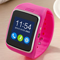 Hot Pink Bluetooth Smart Watch Wristband Phone Mate Smartwatch Support SIM Card/TF Card 0.3M Camera For IOS Android #ET698