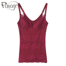 Fimage Autumn and winter meat skin color thermal underwear vest plus velvet thickening female basic shirt top beauty care body