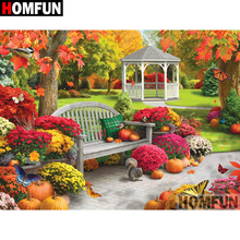 HOMFUN 5D DIY Diamond Painting Full Square/Round Drill Garden scenery 3D Embroidery Cross Stitch gift Home Decor Gift A08214 homfun full square round drill 5d diy diamond painting garden