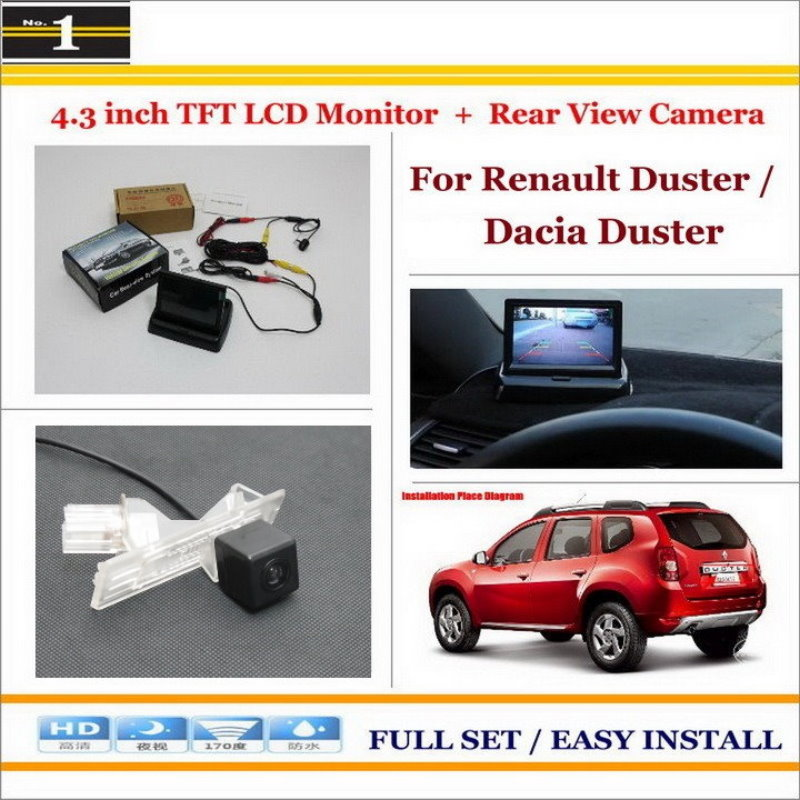 For Renault Duster / Dacia Duster - In Car 4.3 Color LCD Monitor + Car Rear Back Up Camera = 2 in 1 Park Parking System