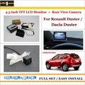 """Para Renault Duster/Dacia Duster-En Coche 4.3 """"Color LCD Monitor Del Coche + Cámara de Visión Trasera = 2 en 1 Sistema de Aparcamiento Parque"""