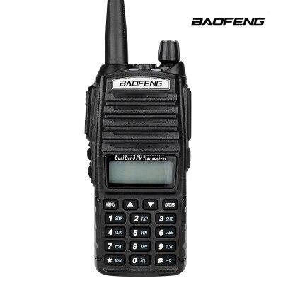 imágenes para Alta calidad baofeng uv-82 walkie talkie de radio de jamón portátil dual ptt mango hermana de radio baofeng uv-5r + auricular baofeng uv 82