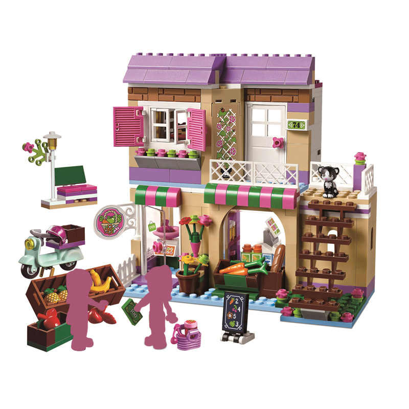 Heartlake Food Market 41108 Building Blocks Model Toys for Children Compatible with Friends Bricks Figure New Year Gifts