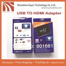 5 unids/lote! envío libre + USB a HDMI convertidor deveice a través del USB a HDMI Soporta resolución de hasta 1920 x 1080/32bit
