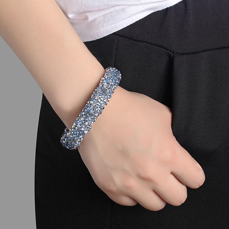Женский браслет с кристаллами janeyacy повседневный подвесками