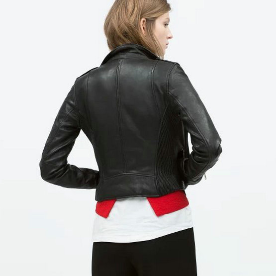 Soft Black Leather Jacket | Outdoor Jacket