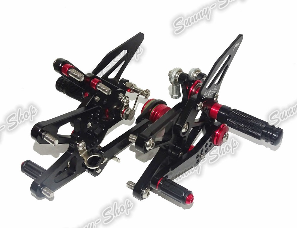 Motorcycle CNC Adjustable Rider Rear Sets Rearset Footrest Foot Rest Pegs Black For TRIUMPH Daytona 675