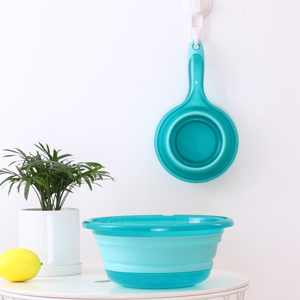 Folding Water Ladle Collapsible Spoon Kitchen Bathroom Scoop Bath Shower Washing Save Storage Space Essential P7Ding