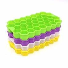 Ice Cube лотки, 37 кубики льда лотков с крышкой Stackable мини коктейльное Виски Ice Cube Плесень контейнеры для хранения