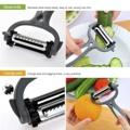 Planer Multifunctional 360 Degree Rotary Potato Peeler Vegetable Cutter Fruit Melon Planer Grater KitchenTools Gadget 3 Blades