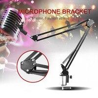 Réglable Mic Microphone Stand Suspension Boom Ciseaux Bras de Support de Stand En Métal Diffusion Microphone de Studio Support De Montage Kits