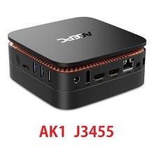 AK1 Мини ПК Windows 10 Мини компьютер офисного программного обеспечения Двухъядерный процессор Intel Apollo Lake J3455 4G Оперативная память HTPC 12 V HDMI 4 K с Wi-Fi RJ45 USB3.0