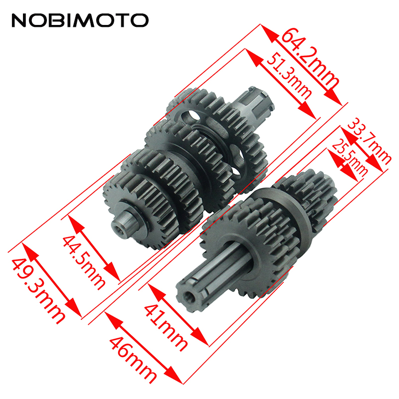 Fourth Gear Main Countershaft Transmission Gear Box Main Counter Shaft Fit For Lifan 125cc Electric Foot Start Engines ZB-110 все цены