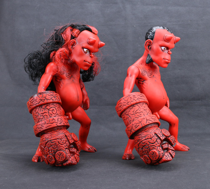 ФОТО New Arrival Classic Comic Animation Hellboy Normal and Long Hair Version 26cm Action Figure
