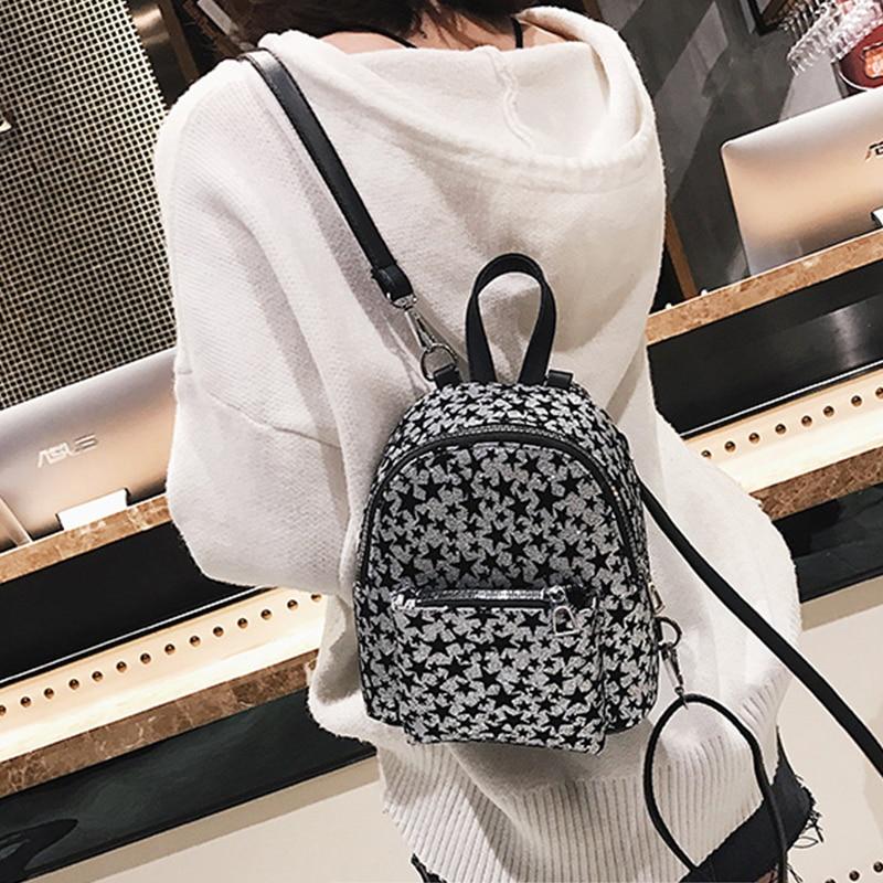 2018 Women Mini Cute Shiny Backpack Female Small Leather Kids Back pack Backpacks for Teenagers Girls School Bags Feminine Pack