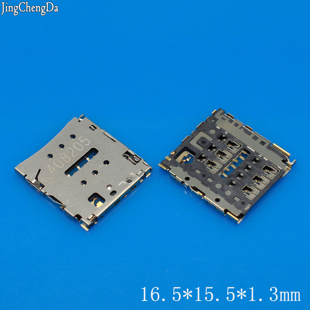 Jing Cheng Da 100% New SIM card socket holder tray for Huawei P6 P6-C00 P6-U00 P6-T00 X1 High Quality