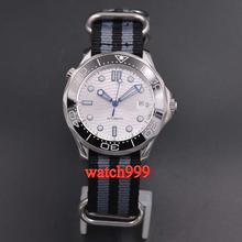 Men's Watch BLIGER Sapphire Crystal White Dial Mechanical Automatic 41mm Luminous-Ceramics