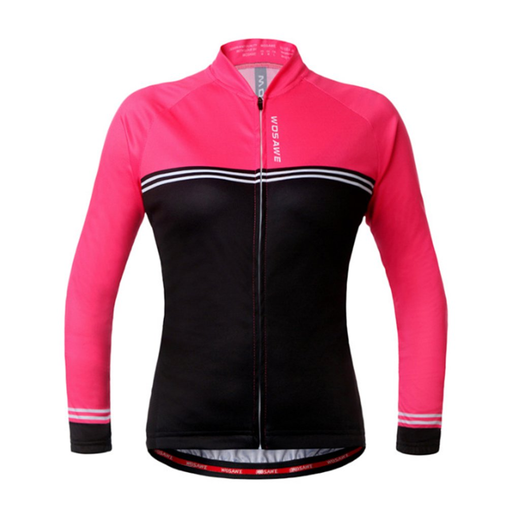WOSAWE Autumn Long Sleeve Jacket Outdoor Sports Riding Cycling Woman Elasticity Jacket Quick Dry Breathable Bicycle Clothing