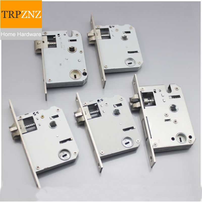 Stainless Steel 5050, Mortise Lock Body, Three Forks, Mute, Small 50 Double Tongue Door, Can Be Lifted And Unlocked