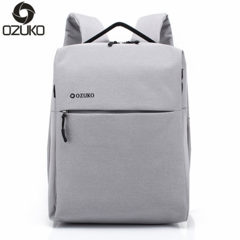 OZUKO 14 Inch Laptop Backpack Large Capacity Waterproof Men Business Computer Bag Oxford Travel Mochila school Bag for Teenagers large 14 15 inch notebook backpack men s travel backpack waterproof nylon school bags for teenagers casual shoulder male bag